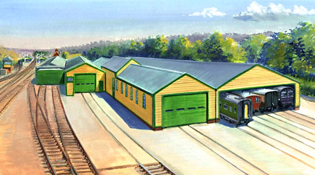 Sketch of proposed carriage shed extension - Matthew Cousins - 2014