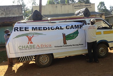 Photo - publicity for Free medical camp