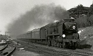 Bulleid Pacific Sir Archibald Sinclair in 1966