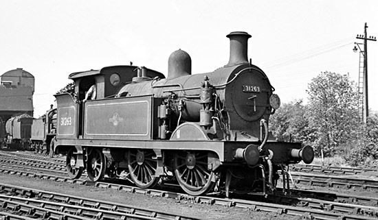 31263 on shed at Three Bridges - Peter Quilley - 31 May 1963
