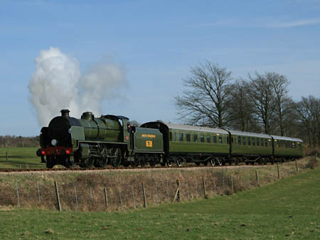 1638 with Maunsell train - Dave Clarke - 16 March 2009