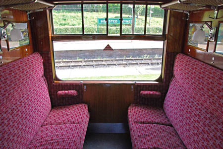 Bulleid coach 2526 compartment interior - 12 September 2009 - Derek Hayward