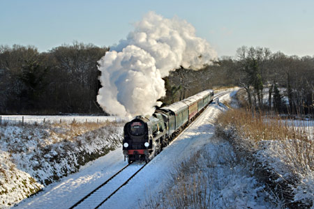 34059 with Santa Special train - 20 December 2009 - John Goss