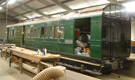 the Birdcage Brake 3363 in the carriage works - David Chappell - 25 Mar 2009