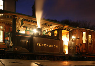 Fenchurch with Metropolitan coaches, after dark at Horsted Keynes - 22 November 2009 - Andrew Strongitharm