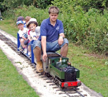 Miniature train service at Kingscote - 28 June 2009 - Derek Hayward