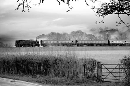 42085 heads South from Horsted Keynes - 21 February 2010 - Edward J Dyer