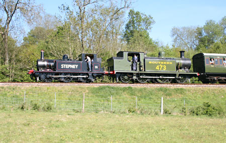 Stepney and B473 hauling a train - Andrew Strongitharm - 22 May 2010