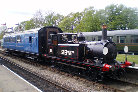 55 Stepney and coach 6575 recreate 50 years earlier - Richard Clark - 17 May 2010