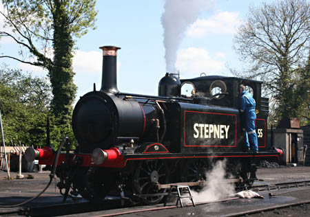 55 Stepney being test-steamed - Tony Sullivan - 6 May 2010