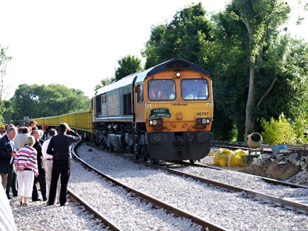 66707 posed with rubbish train at East Grinstead - Ashley Smith - 6 July 2010