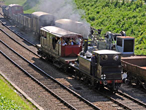 Fenchurch and the Queen Mary brake van at HK - Derek Hayward - 23 May 2010