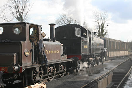 Fenchurch and the Fairburn in light steam - 19 February 2010 - Andrew Strongitharm