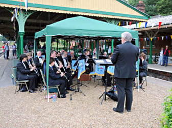 Bluebell Railway Band playing at Horsted Keynes - Derek Hayward - 15 August 2010