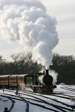 C-class No.592 arriving at Horsted Keynes with the vintage set - Tony Sullivan - 26 December 2010
