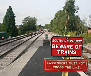 Southern end of the platform at East Grinstead - Colin Duff - 4 September 2010
