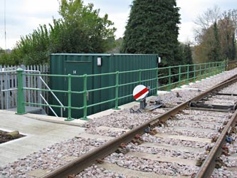 Railings and ground signal at East Grinstead - Michael Hopps - 26 Nov 2010