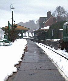 Platform edge cleared of snow at Horsted Keynes - Martin Lawrence - 4 Dec 2010