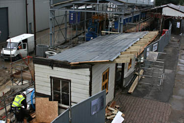 Re-erection of former Isfield building at Sheffield Park - Tony Sullivan - 26 August 2010
