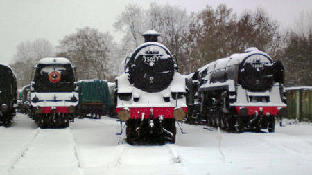 Locos in the snow at Horsted Keynes - Chrissie Nemeth - 1 December 2010