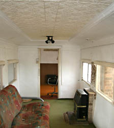 Interior of SER saloon at Pagham - Dave Clarke - 29 August 2010