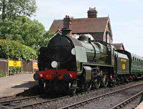 U-class loco with the 3pm departure from Sheffield Park - Tony Sullivan - 24 June 2010