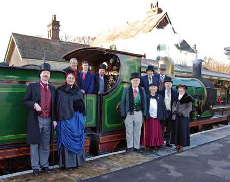 C-class with the staff of the Victorian Train at Kinscote - Derek Hayward - 2 January 2010