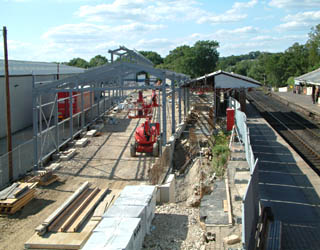 Carriage Shed frame - David Chappell - 3 July 2010