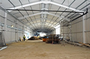 Inside the carriage shed on Woodpax site - Derek Hayward - 22 October 2010