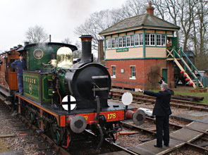 Exchanging tokens at Horsted Keynes - Greg Wales - 13 March 2011