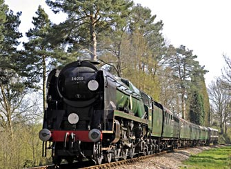 34059 at Birch Farm foot crossing - Derek Hayward - 10 April 2011
