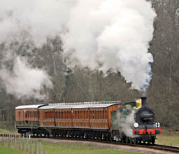 C-class No.592 north of Three Arch Bridge - Derek Hayward - 12 March 2011