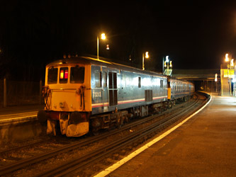 73213 with Vep at East Grinstead - Andrew Crampton - 7 February 2011