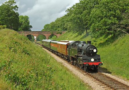80151 with GN Saloon and the pre-war SR set at 3-arch - Ashley Smith - 18 June 2011