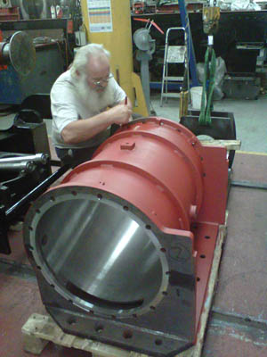 Completed cylinder for Brighton Atlantic - Malcolm Porter - 19 June 2011