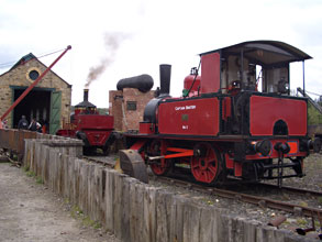 Baxter and Coffee Pot No.1 being prepared for service at Beamish - Paul Russell - 14 April 2011
