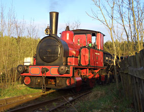 Captain Baxter making its way to the exchange sidings at Beamish - Paul Russell - 16 April 2011