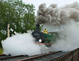 SECR C-class enshrouded in steam - Keith Farrin - 6 June 2011