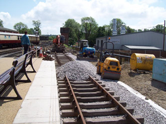 Track laid into Milk Dock - Kevin McElhone - 21 May 2011