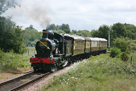 9017 leaves Sheffield Park with the Sunday Lunchtime Golden Arrow service - Tony Sullivan - 29 May 2011