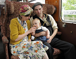 Family on train - Derek Hayward - 8 May 2011
