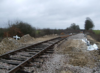 Ballast down on Freshfield Bank - Martin Lawrence - 23 January 2011