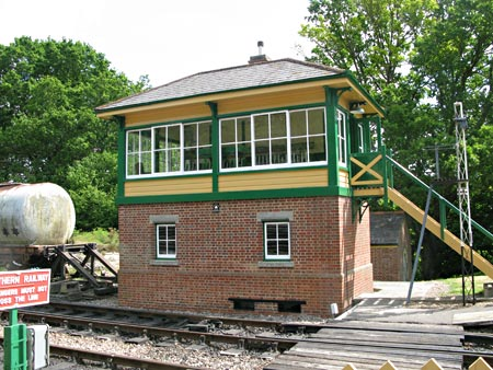 Repainted Kingscote Signal Box - Richard Hill - 19 May 2011
