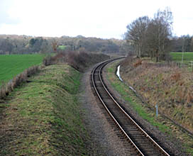 Lineside and drainage work completed at Freshfield - Derek Hayward - 12 February 2011