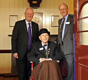 Lord Worcester, Bernard Holden and Sam Bee - Derek Hayward - 23 June 2011