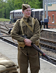Soldier on duty at Horsted Keynes - Derek Hayward - 7 May 2011