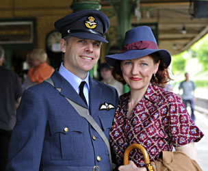 RAF couple at Horsted Keynes - Derek Hayward - 7 May 2011