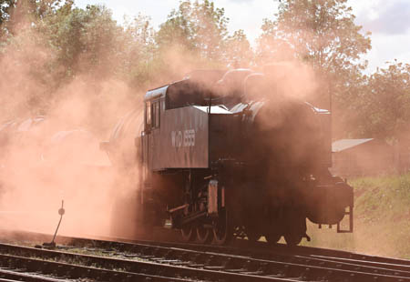 War-Dept USA tank enshrouded in smoke at Horsted Keynes - Tony Sullivan - 8 May 2011