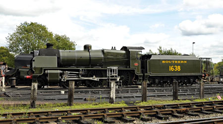 1638 on shed at Sheffield Park - Derek Hayward - 29 Aug 2011