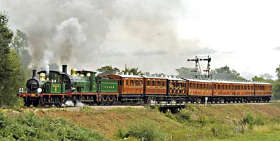 178 and 592 leaving Sheffield Park with the Victorian train - Derek Hayward - 13 Aug 2011